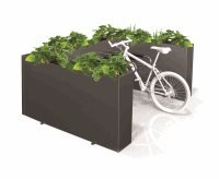 Three Sided Planter Box 6 Bike Rack