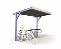 Single Sided Access 8 Bike Shelter - Type 3