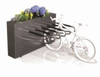 Single Sided Planter Box 6 Bike Rack