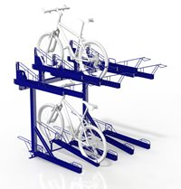 Dual height 10 bike parking