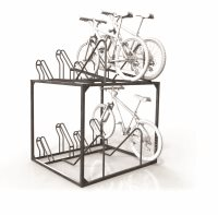 Double Height Manual 8 Bike Rack