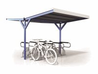 Double Sided Access 16 Bike Shelter - Type 3